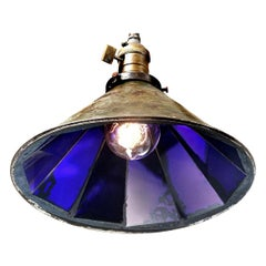 Frink Style Blue Mirrored Reflector Pendent