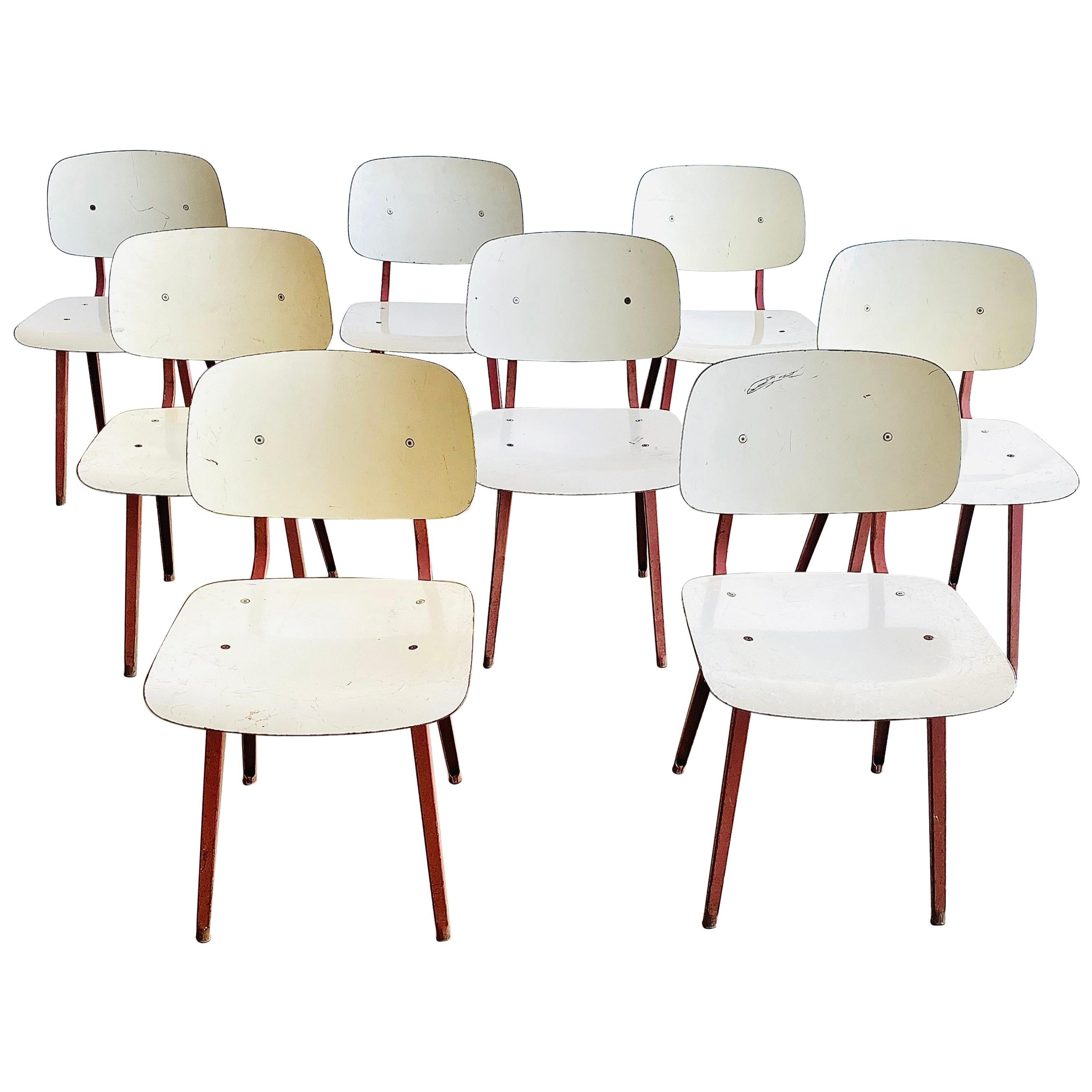 "Friso Kramer Iconic Dutch Industrial Design ""Revolt"" Chair, 10 Available"