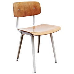 Friso Kramer Industrial Rationalist Metal and Laminated Wood Result Chair, 1953