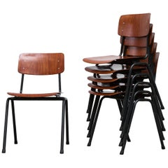 Friso Kramer Inspired Stacking School Dining Chairs