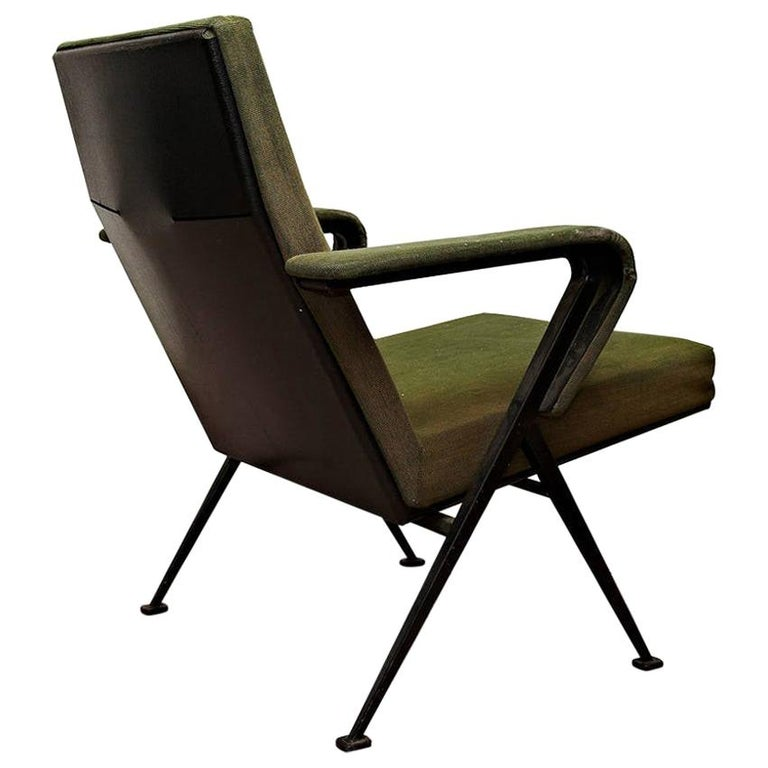Friso Kramer Mid-Century Modern Green Upholstered Repose Fauteuil, 1969 For Sale