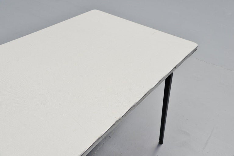 Cold-Painted Friso Kramer Reform table Ahrend de Cirkel, 1955 For Sale