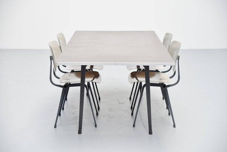 Aluminum Friso Kramer Reform Table Ahrend de Cirkel, 1955 For Sale