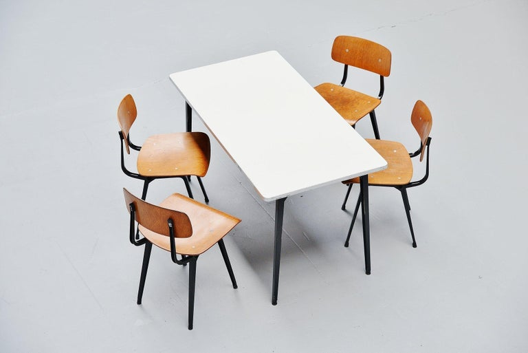 Metal Friso Kramer Reform table Ahrend de Cirkel, 1955 For Sale