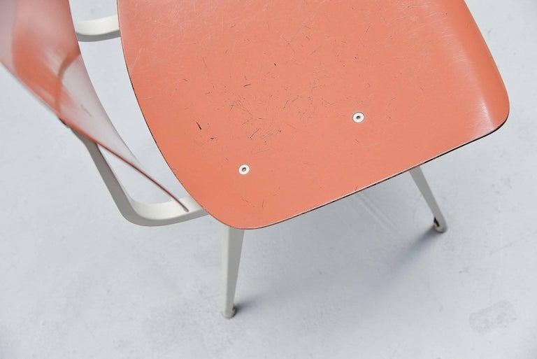 Mid-20th Century Friso Kramer Revolt Chairs Set 1953 Black Blue Liver Colors For Sale