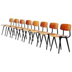Friso Kramer Revolt chairs wood for Ahrend de Cirkel, 1963