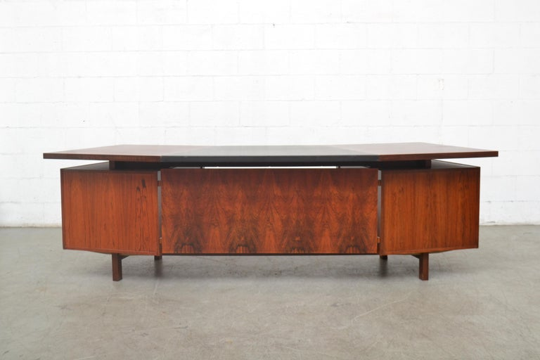 Dutch Fristho Executive Rosewood Desk For Sale
