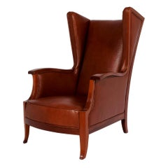 Frits Henningsen Attribution Wingback Chair, 1940s