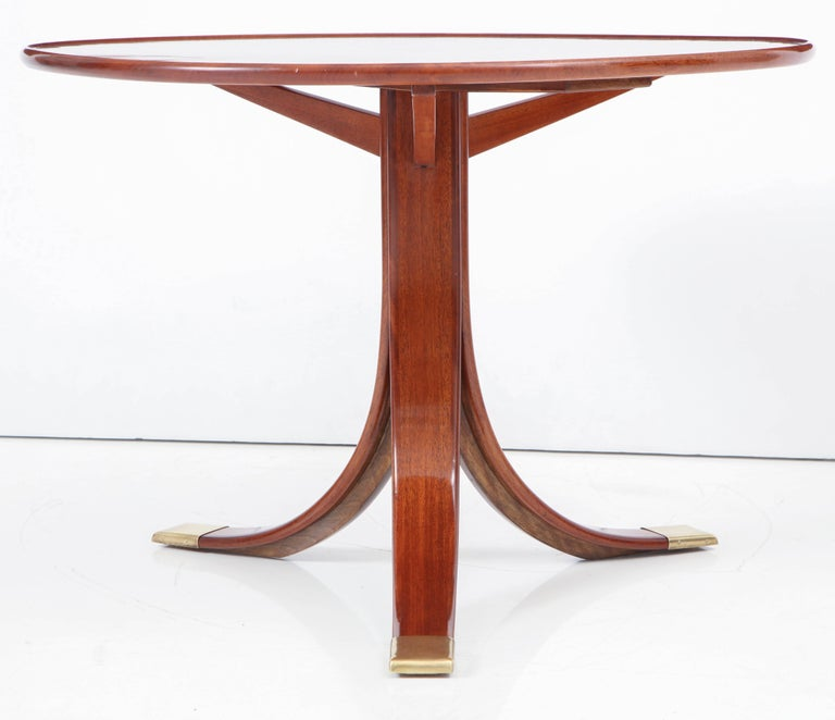 Mid-20th Century Frits Henningsen Circular Side Table, circa 1940s For Sale