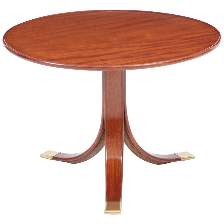 Frits Henningsen Circular Side Table, circa 1940s For Sale