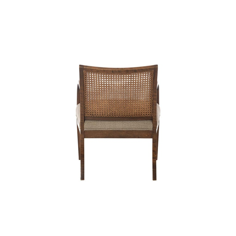 Frits Henningsen Double Layer Caned Back Transitional Modern Armchair In Excellent Condition For Sale In Minneapolis, MN