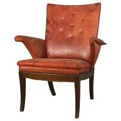 Frits Henningsen Elegant Leather Armchair