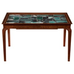 Frits Henningsen & Jens Thirslund, Danish Mahogany and Tile Top Coffee Table