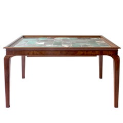Frits Henningsen & Jens Thirslund, Rare Danish Mahogany & Tile-Top Coffee Table