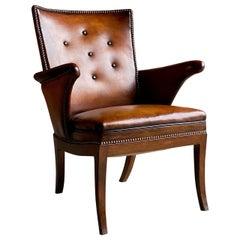 Frits Henningsen Lounge Chair Denmark, circa 1932