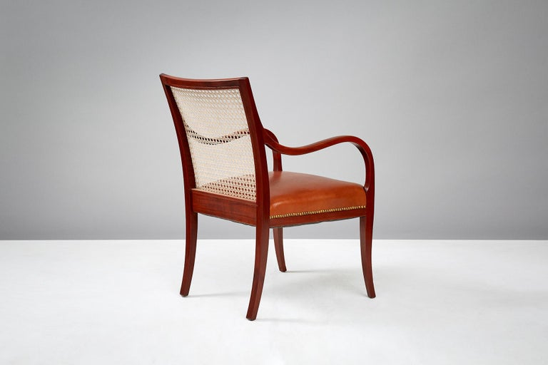 Frits Henningsen Mahogany Armchairs, circa 1940 For Sale 1