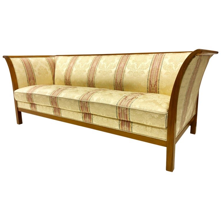 Frits Henningsen Mahogany Frame Sofa For Sale
