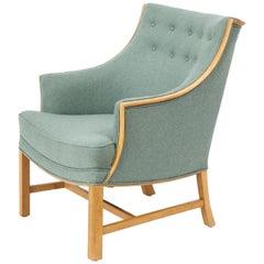 Frits Henningsen Oak & Upholstered Armchair, Circa 1940s