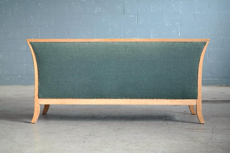 Frits Henningsen Style Two-Seat Sofa in Oak by Søren Willadsen, Denmark, 1940s For Sale 1