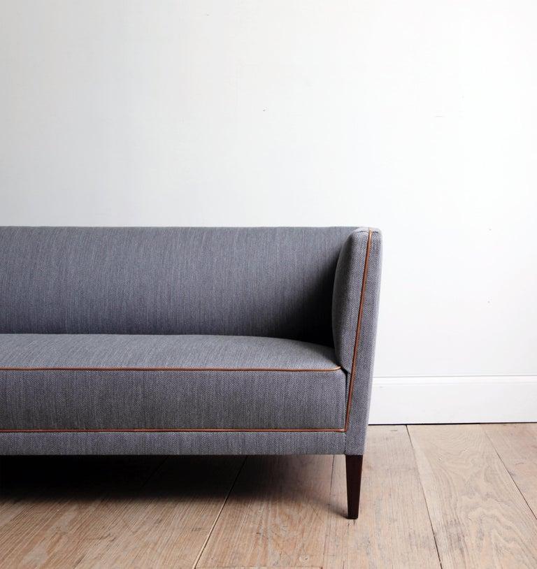 Scandinavian Modern Frits Henningsen Three-Seat Sofa For Sale
