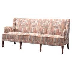 Frits Henningsen Three-Seat Sofa in Pastel Upholstery