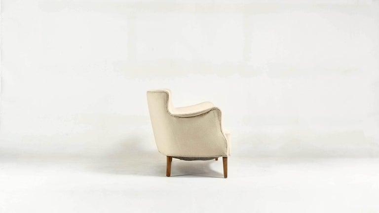 Danish Frits Henningsen, Unique Concave Sofa, Denmark, circa 1940 For Sale
