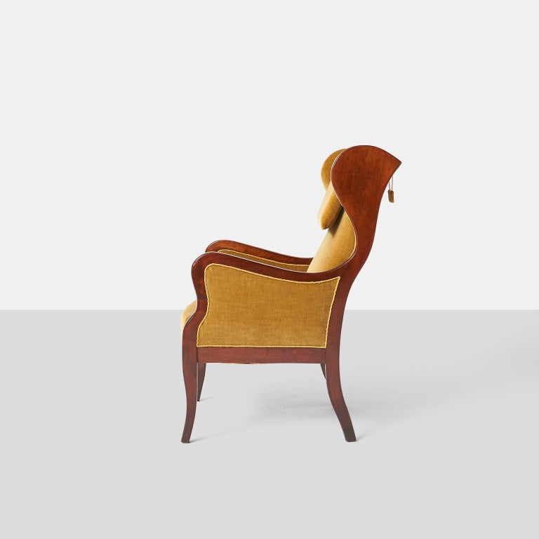 Danish Frits Henningsen Wingback Chair For Sale