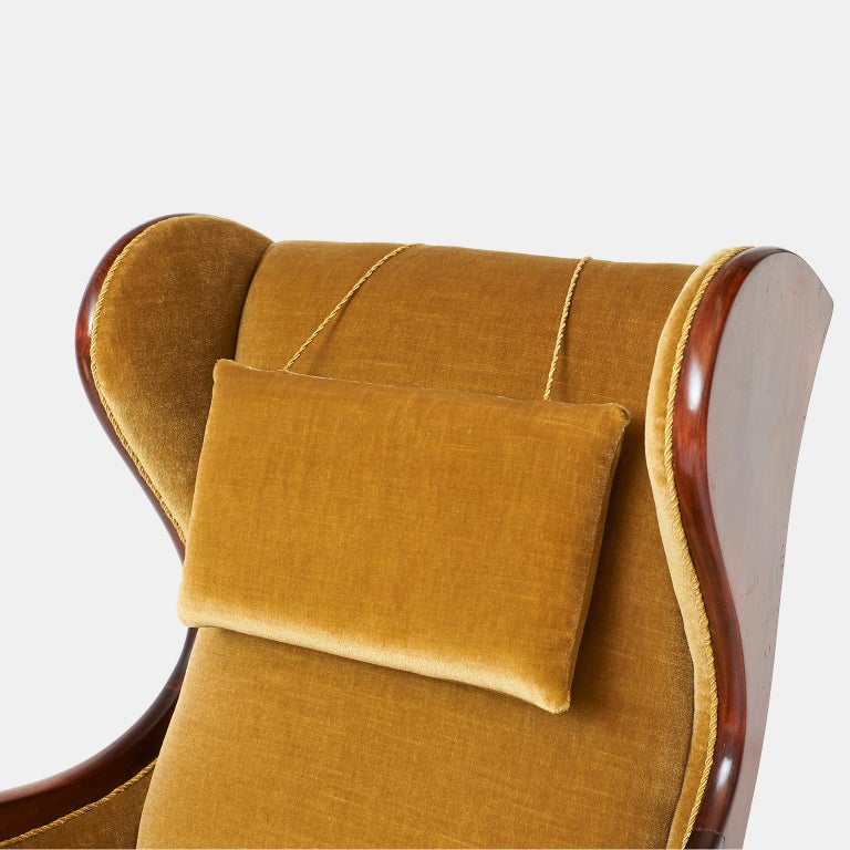 Mid-20th Century Frits Henningsen Wingback Chair For Sale