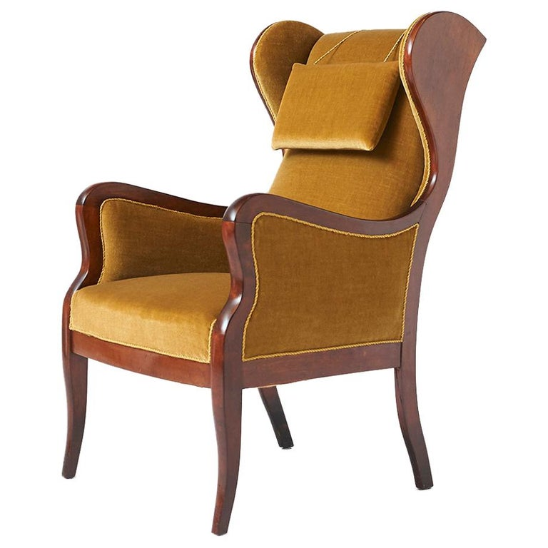 Frits Henningsen Wingback Chair For Sale