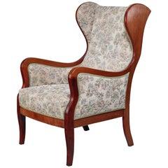 Frits Henningsen Wingback Lounge Chair, Denmark, 1940s