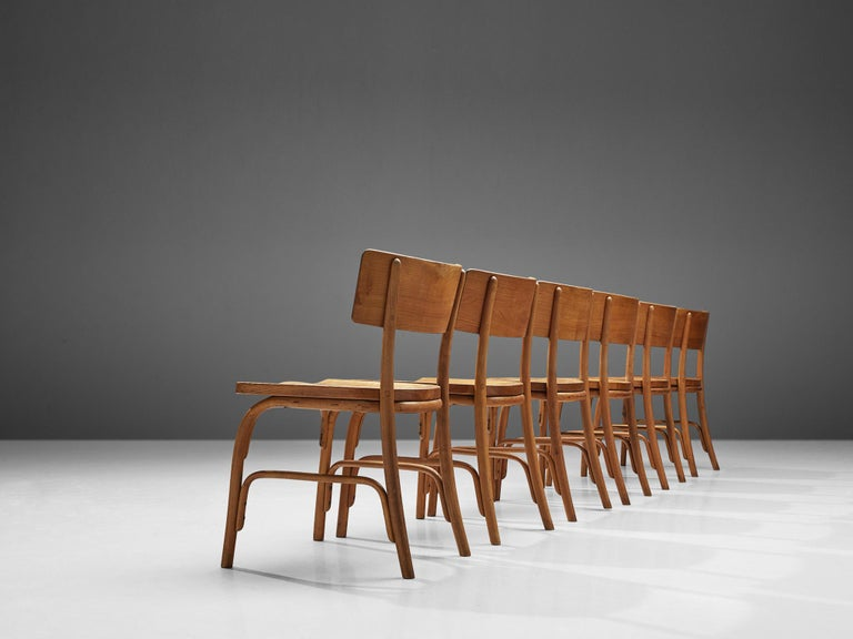 Danish Frits Schlegel for Fritz Hansen Set of Six 'Husum' Chairs For Sale