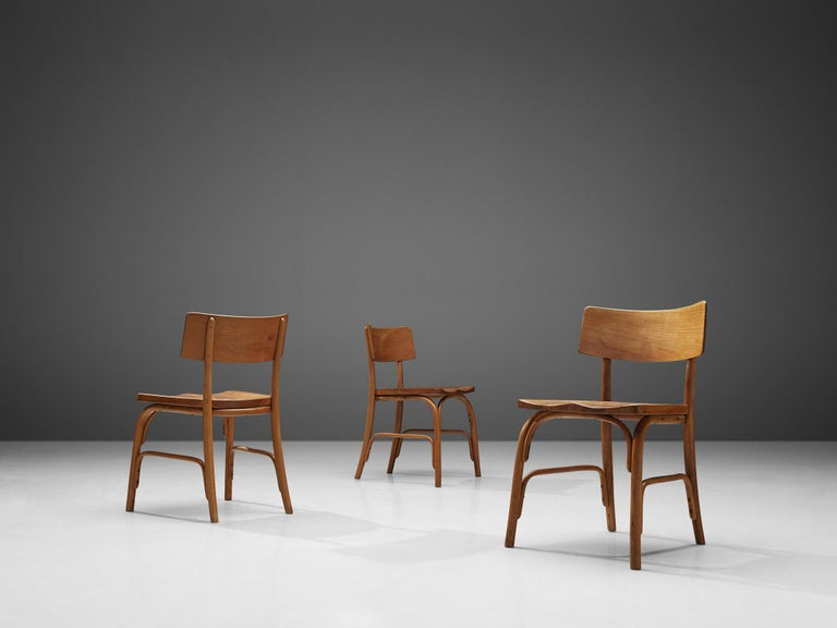 Frits Schlegel for Fritz Hansen Set of Six 'Husum' Chairs In Good Condition For Sale In Waalwijk, NL