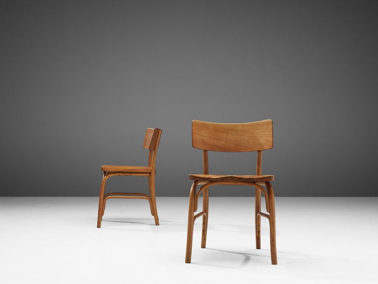 Mid-20th Century Frits Schlegel for Fritz Hansen Set of Six 'Husum' Chairs For Sale