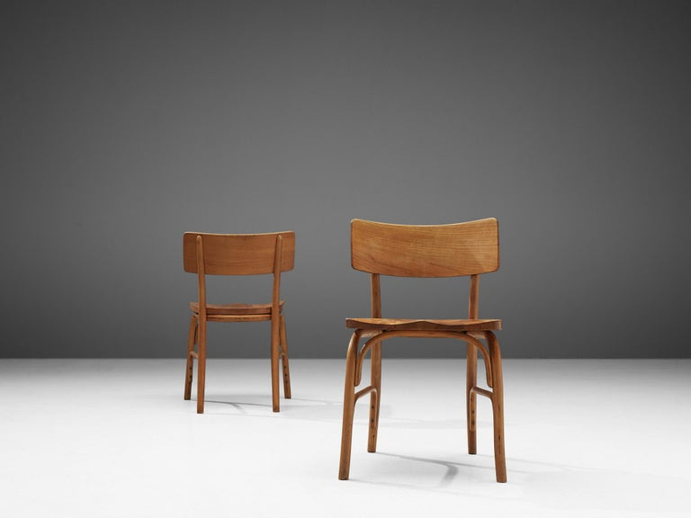 Elm Frits Schlegel for Fritz Hansen Set of Six 'Husum' Chairs For Sale