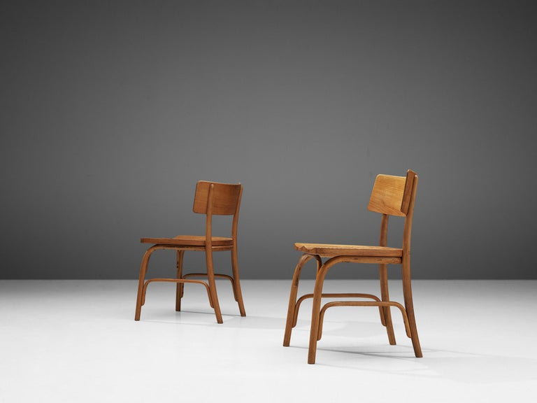 Frits Schlegel for Fritz Hansen Set of Six 'Husum' Chairs For Sale 1