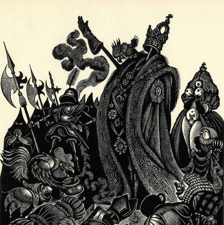 Follies of the Courts  - Print by Fritz Eichenberg.