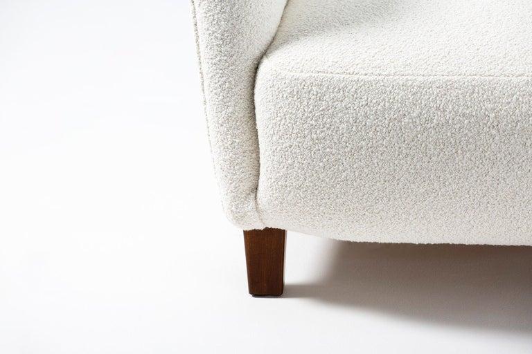 Fritz Hansen 1940s Boucle Armchair For Sale 2
