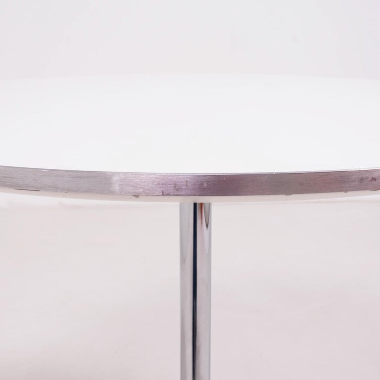 Danish  Modern Contemporary Round White Table by Fritz Hansen A622  For Sale