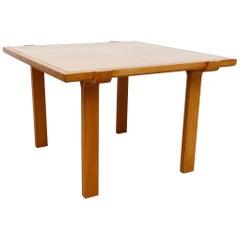 Fritz Hansen Attributed Blonde Side Table