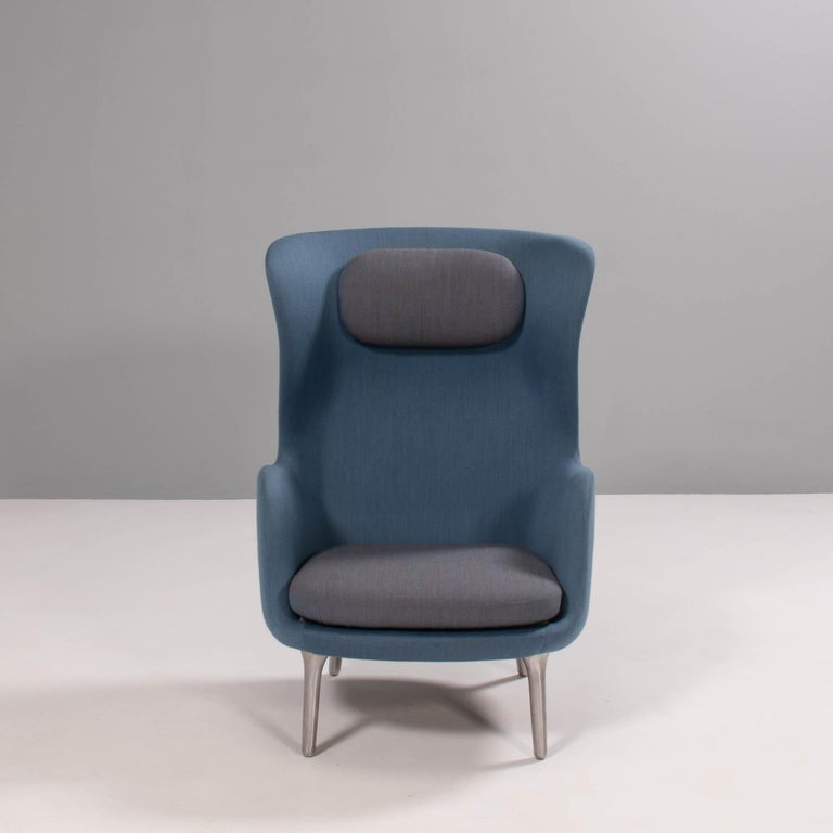 Designed by Jaime Hayon for Fritz Hansen, the RO lounge chair is named after the Danish word for 'tranquility'.  The soft curves of the chair combined with the high backrest creates a cocoon like environment.  The shell of the chair is
