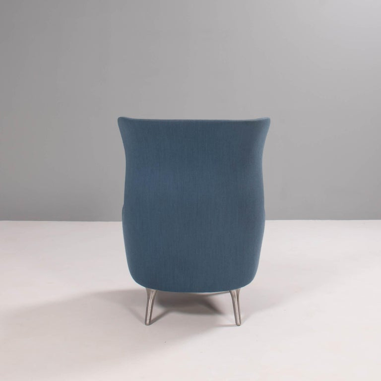 Fritz Hansen by Jaime Hayon Blue & Grey RO Lounge Chair In Good Condition For Sale In London, GB