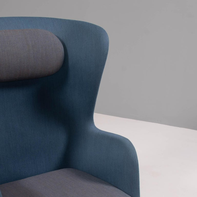 Contemporary Fritz Hansen by Jaime Hayon Blue & Grey RO Lounge Chair For Sale