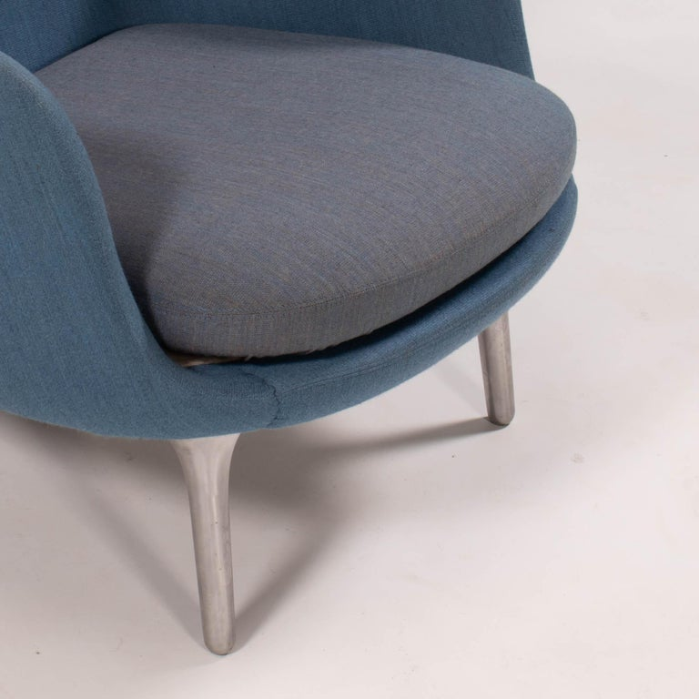 Fritz Hansen by Jaime Hayon Blue & Grey RO Lounge Chair For Sale 1