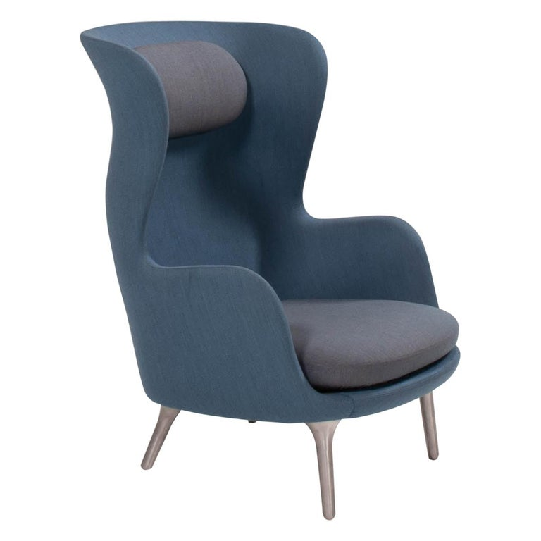 Fritz Hansen by Jaime Hayon Blue & Grey RO Lounge Chair For Sale