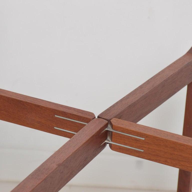 Fritz Hansen Denmark Model 4508 Teak Folding Tray Side Table -Set of Two For Sale 3