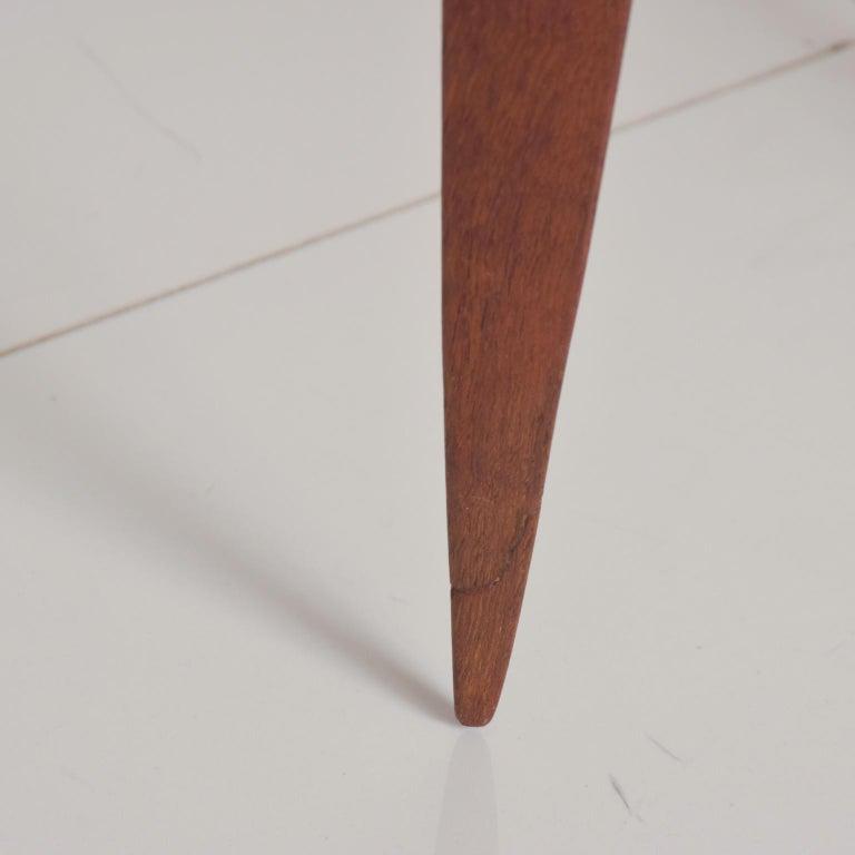 Fritz Hansen Denmark Model 4508 Teak Folding Tray Side Table -Set of Two For Sale 1