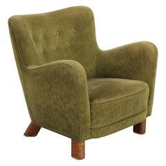 Fritz Hansen Easy Chair in Beige Sheepskin, Model 1669, 1930s
