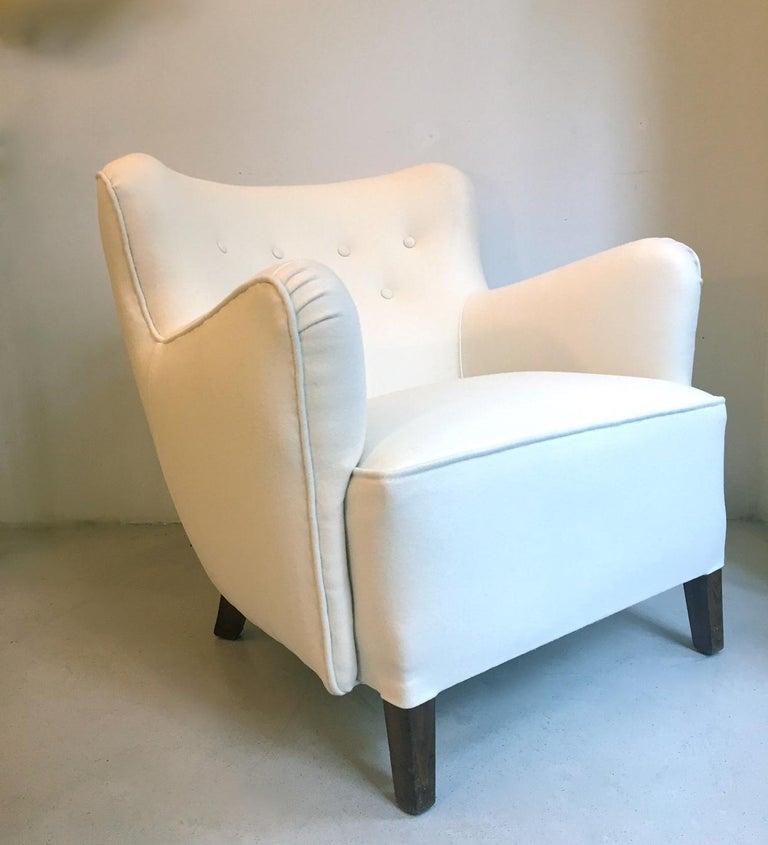 Scandinavian Modern Fritz Hansen Easy Chair Model 1669 For Sale