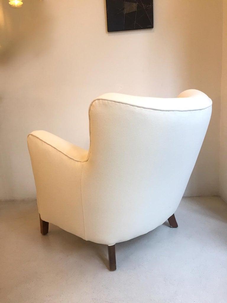 Fabric Fritz Hansen Easy Chair Model 1669 For Sale