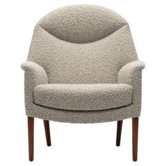 Fritz Hansen Lounge Chair in Pierre Frey Bouclé, Ejner Larsen, Bender Madsen
